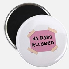 No Boys Allowed Sign Magnet