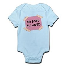 No Boys Allowed Sign Body Suit