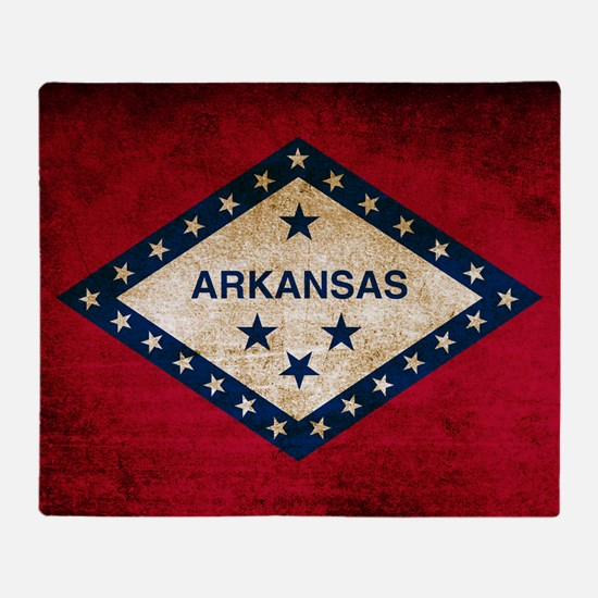 Vintage Flag of Arkansas Throw Blanket
