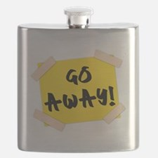 Go Away! Sign Flask