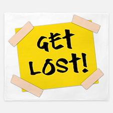 Get Lost! Sign King Duvet