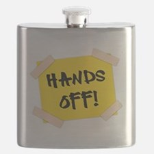 Hands Off! Sign Flask