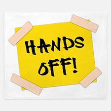 Hands Off! Sign King Duvet