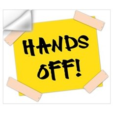 Hands Off! Sign Wall Decal