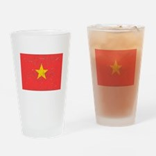 Vietnam Flag (Distressed) Drinking Glass