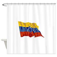 Venezuela Flag (Distressed) Shower Curtain