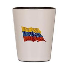 Venezuela Flag (Distressed) Shot Glass