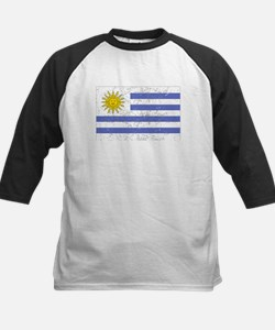Uruguay Flag (Distressed) Baseball Jersey