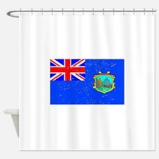 Old St Helena Flag (Distressed) Shower Curtain