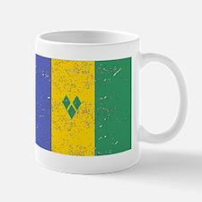 St Vincent Flag (Distressed) Mugs