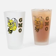 Cute Angry bees Drinking Glass