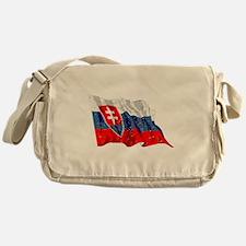 Slovakia Flag (Distressed) Messenger Bag