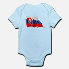 Slovakia Flag (Distressed) Body Suit