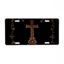 Watercolor Cross Aluminum License Plate