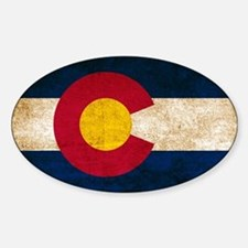 Vintage Flag of Colorado Bumper Stickers