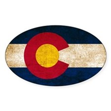 Vintage Flag of Colorado Decal