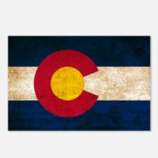 Vintage Flag of Colorado Postcards (Package of 8)