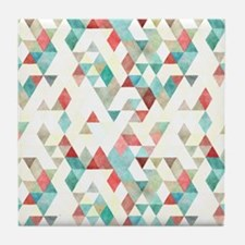 Mixed colors triangles Tile Coaster