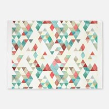 Mixed colors triangles 5'x7'Area Rug