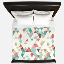 Mixed colors triangles King Duvet