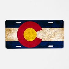 Vintage Flag of Colorado Aluminum License Plate
