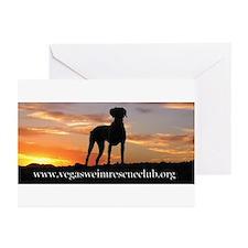 Weimaraner Sunset Greeting Cards (Pk of 10)
