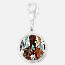 Delaunay - The Red Tower Silver Round Charm