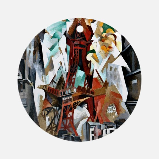 Delaunay - The Red Tower Round Ornament