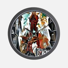 Delaunay - The Red Tower Wall Clock