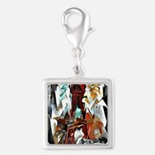 Delaunay - The Red Tower Silver Square Charm