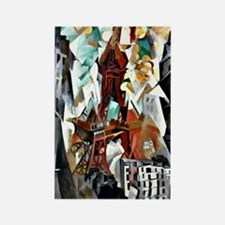 Delaunay - The Red Tower Rectangle Magnet
