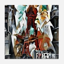 Delaunay - The Red Tower Tile Coaster