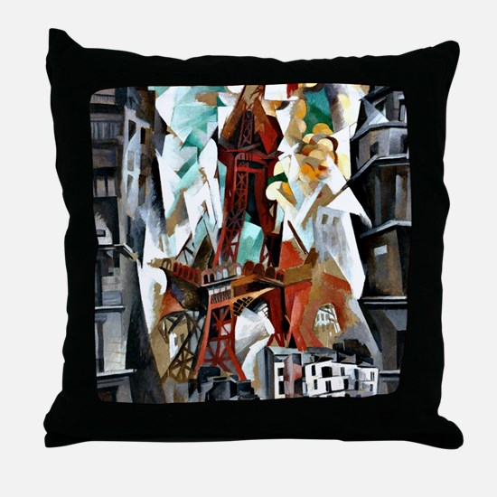 Delaunay - The Red Tower Throw Pillow