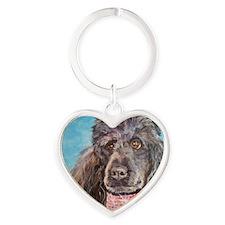 Poodle Heart Keychain