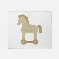 Trojan Horse Throw Blanket
