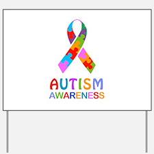 Autism Awareness Ribbon Yard Sign