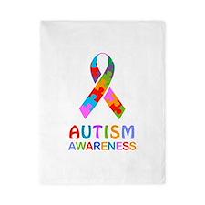 Autism Awareness Ribbon Twin Duvet