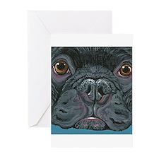 French Bulldog Face Greeting Cards