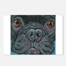 French Bulldog Face Postcards (Package of 8)