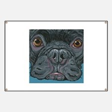 French Bulldog Face Banner