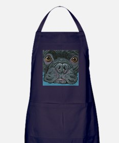 French Bulldog Face Apron (dark)