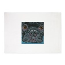 French Bulldog Face 5'x7'Area Rug