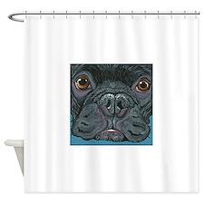 French Bulldog Face Shower Curtain