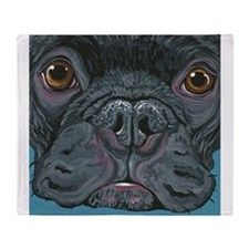 French Bulldog Face Throw Blanket