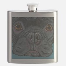 French Bulldog Face Flask