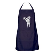 Distressed Volleyball Player Silhouette Apron (dar