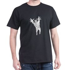Distressed Volleyball Player Silhouette T-Shirt