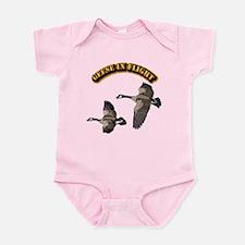 Geese in Flight-w Text Infant Bodysuit
