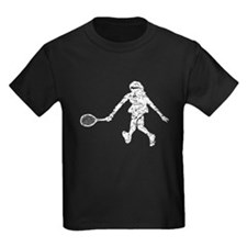 Distressed Tennis Player Silhouette T-Shirt