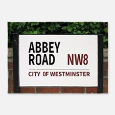 Abbey Road street sign 5'x7'Area Rug